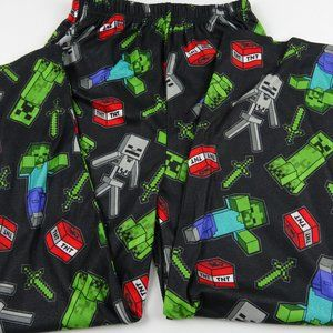 Minecraft Boys Creeper Lounge Pajama Pants Size 10